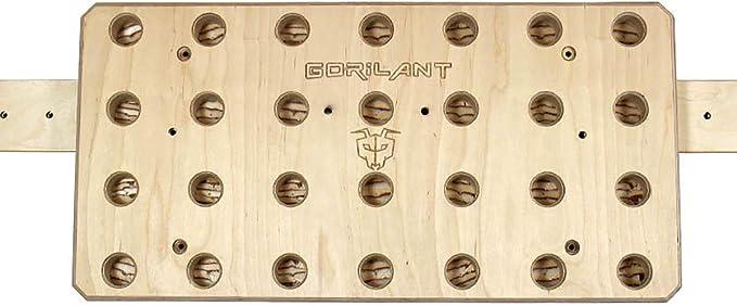 Gorilant - Pegboard de Escalada, Entrenamiento en suspensión, Madera Abedul de 80x40cm, Agujeros Inclinados.