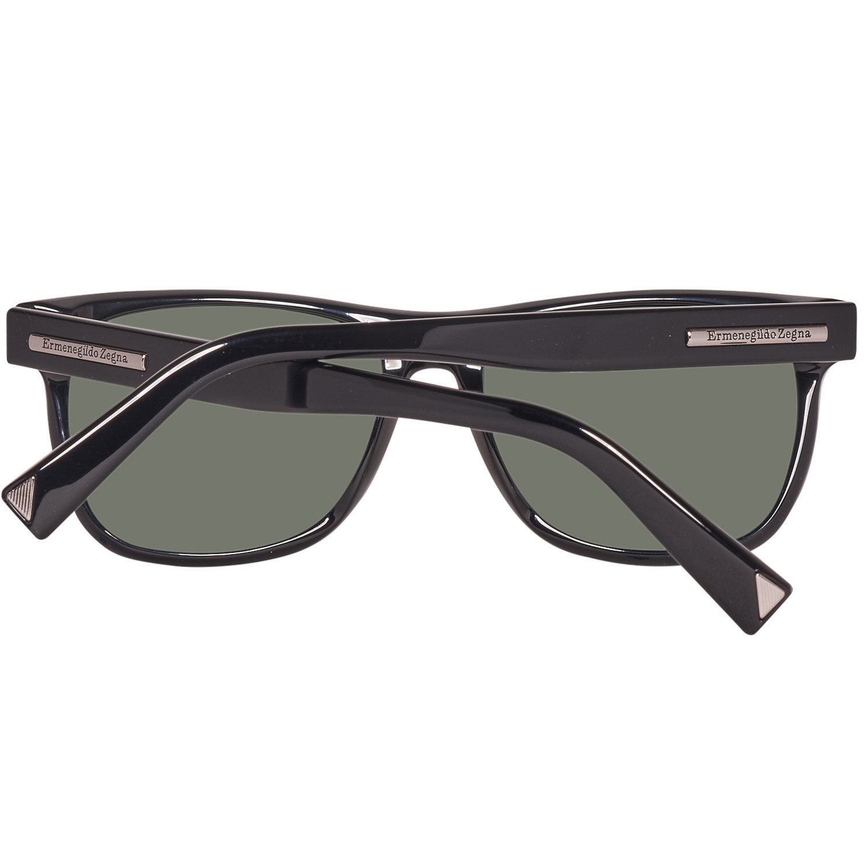 32fd0d323 Amazon.com: Ermenegildo Zegna Wayfarer Sunglasses EZ0020 01R Shiny Black  Polarized 20: Clothing