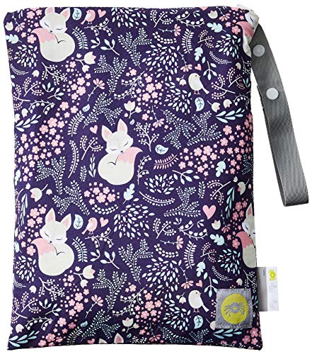 """Itzy Ritzy Sealed Wet Bag with Adjustable Handle – Washable and Reusable Wet Bag with Water Resistant Lining Ideal for Swimwear, Diapers, Gym Clothes & Toiletries; Measures 11"""" x 14"""", Fox Hollow"""