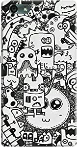 DailyObjects Sketch Monsters Case For Huawei Honor 4X