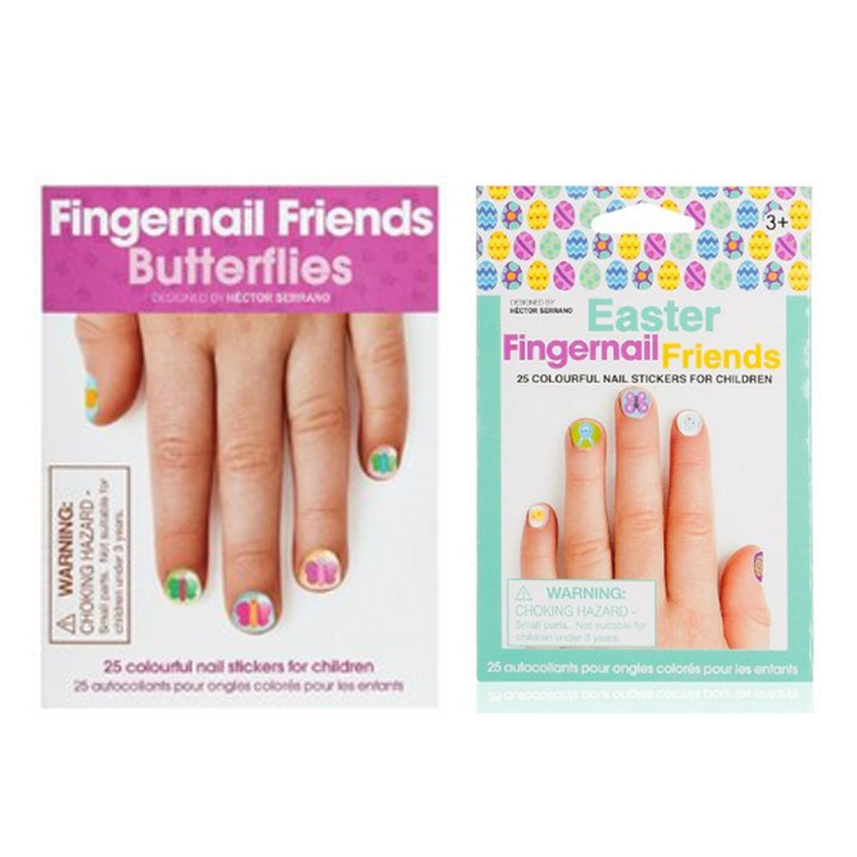 Amazon.com: Fingernail Friends Colorful Nail Stickers Nail Art for ...
