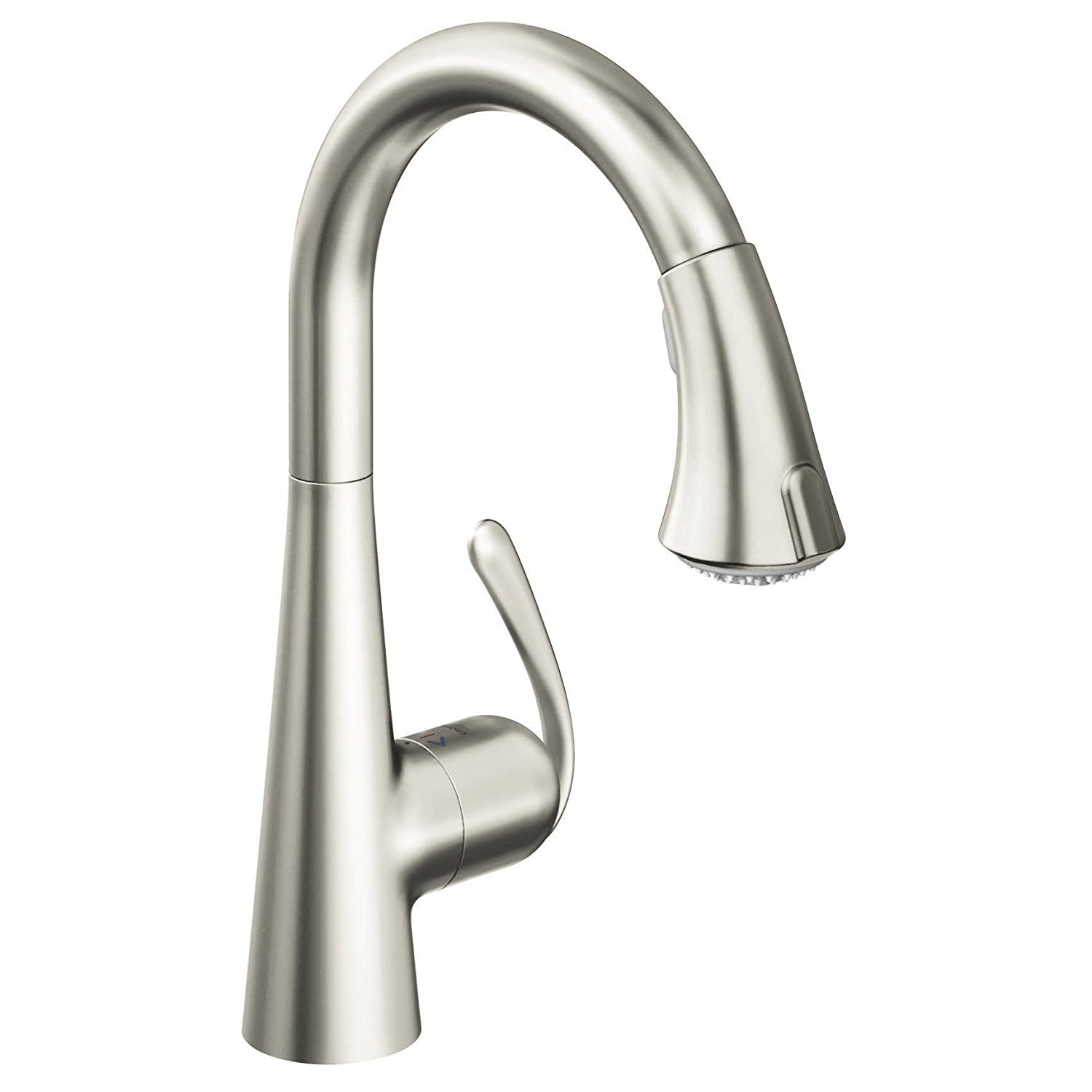Genial Grohe 32 298 SD0 Ladylux3 Main Sink Dual Spray Pull Down Kitchen Faucet,  RealSteel Stainless Steel   Touch On Kitchen Sink Faucets   Amazon.com