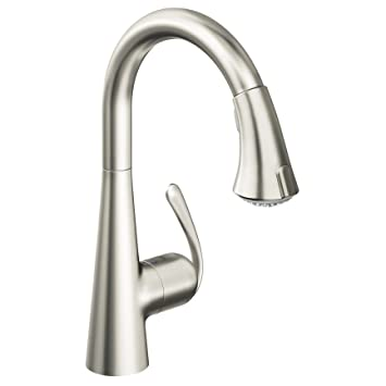 Grohe 32296dc1 Ladylux Café Main Sink Dual Spray Pull Down Kitchen Faucet,  SuperSteel