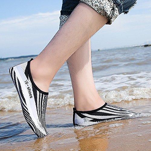 de rápido zapatos negro transpirable building piel blanco y en SK y Lucdespo secado de esquí zancudas zapatillas body zapatos playa acuático surf Nadar 4 zapatos de Pnw54qH
