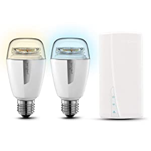 Sengled Smart LED Tunable White A19 Starter Kit, 60W Equivalent Bulbs, 2 Light Bulbs & Hub, Tunable White 2700-6500K, Works with Alexa & Google Assistant