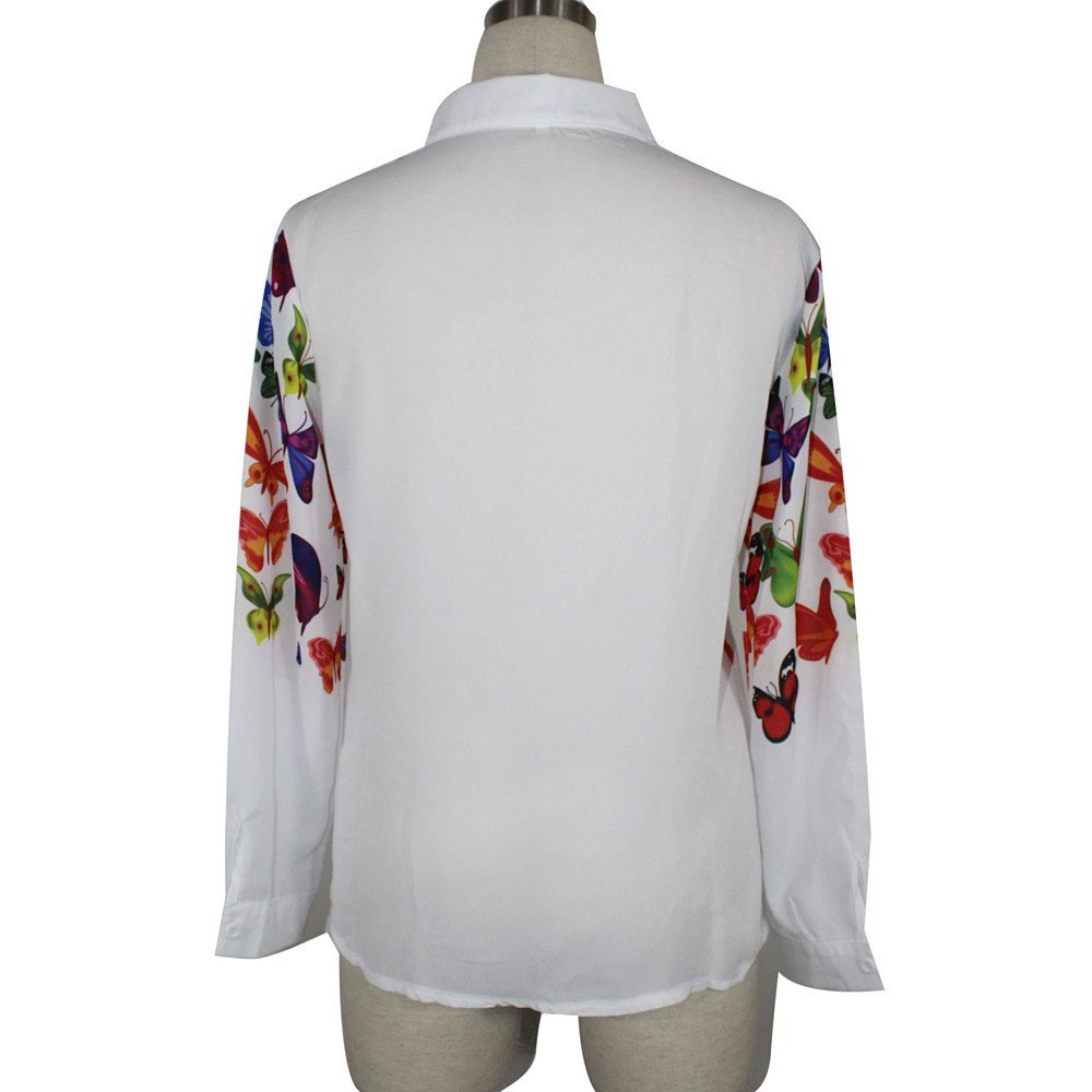 Mujer blusa fiesta,Sonnena ❤ Mujeres Mariposa Chifón Tops Camisa de manga larga Blusa casual: Amazon.es: Hogar
