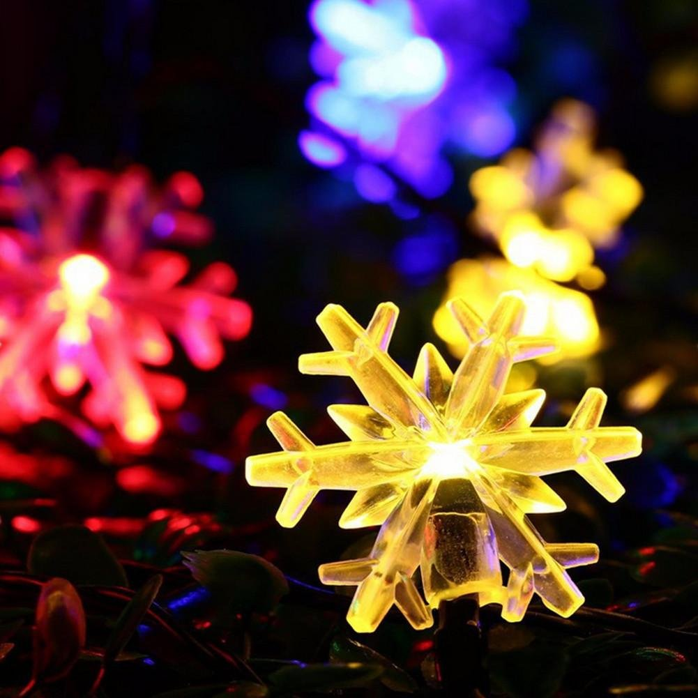 20 heads led snowflake Wedding decoration Solar energy color light by DMMSS (Image #5)