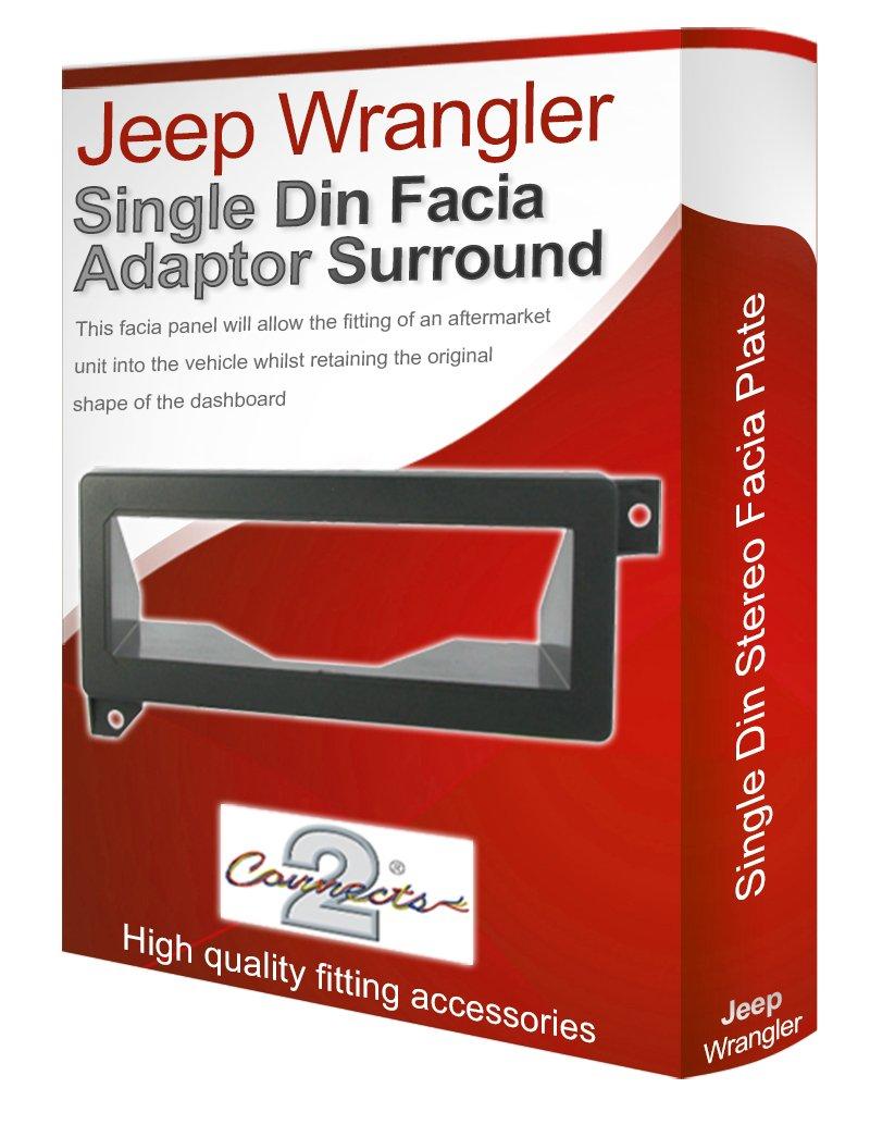 Jeep Wrangler st/ér/éo Adaptateur de fa/çade dautoradio CD PaNNEAU DE GARNITURE DE CADRE DE PLAQUE