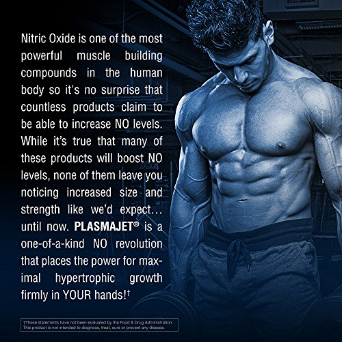 PLASMAJET Legendary N.O. Nitric Oxide Maximizer, Premium Formula for Huge Gains in Lean Mass & Strength, 80 Tablets