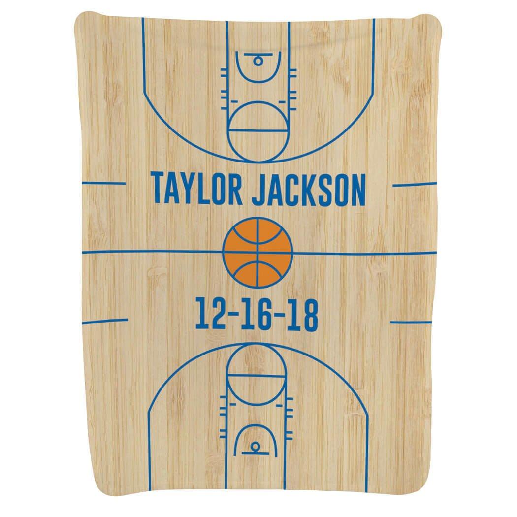 Basketball Baby & Infant Blanket   Basketball Court Wood