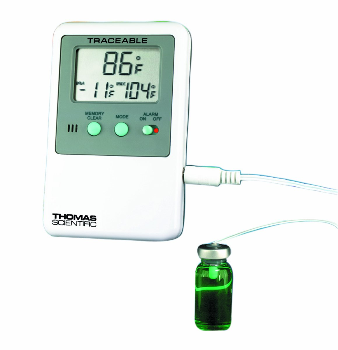 Thomas Traceable Refrigerator/Freezer Plus Thermometer, with 5mL Vaccine Bottle Probe, -58 to 158 degree F