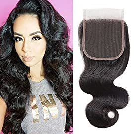 body wave bundles with closure (Closure 12Inch)