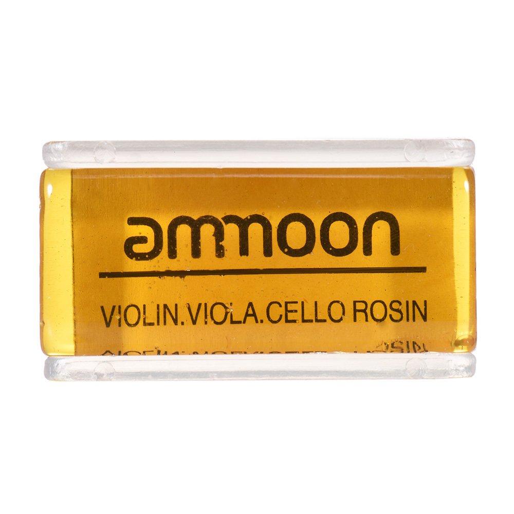 ammoon High-Class Transparent Orange Natur Rosin mit Quader Schachtel für Violine Viola Cello Handmade Licht und geringe Staub