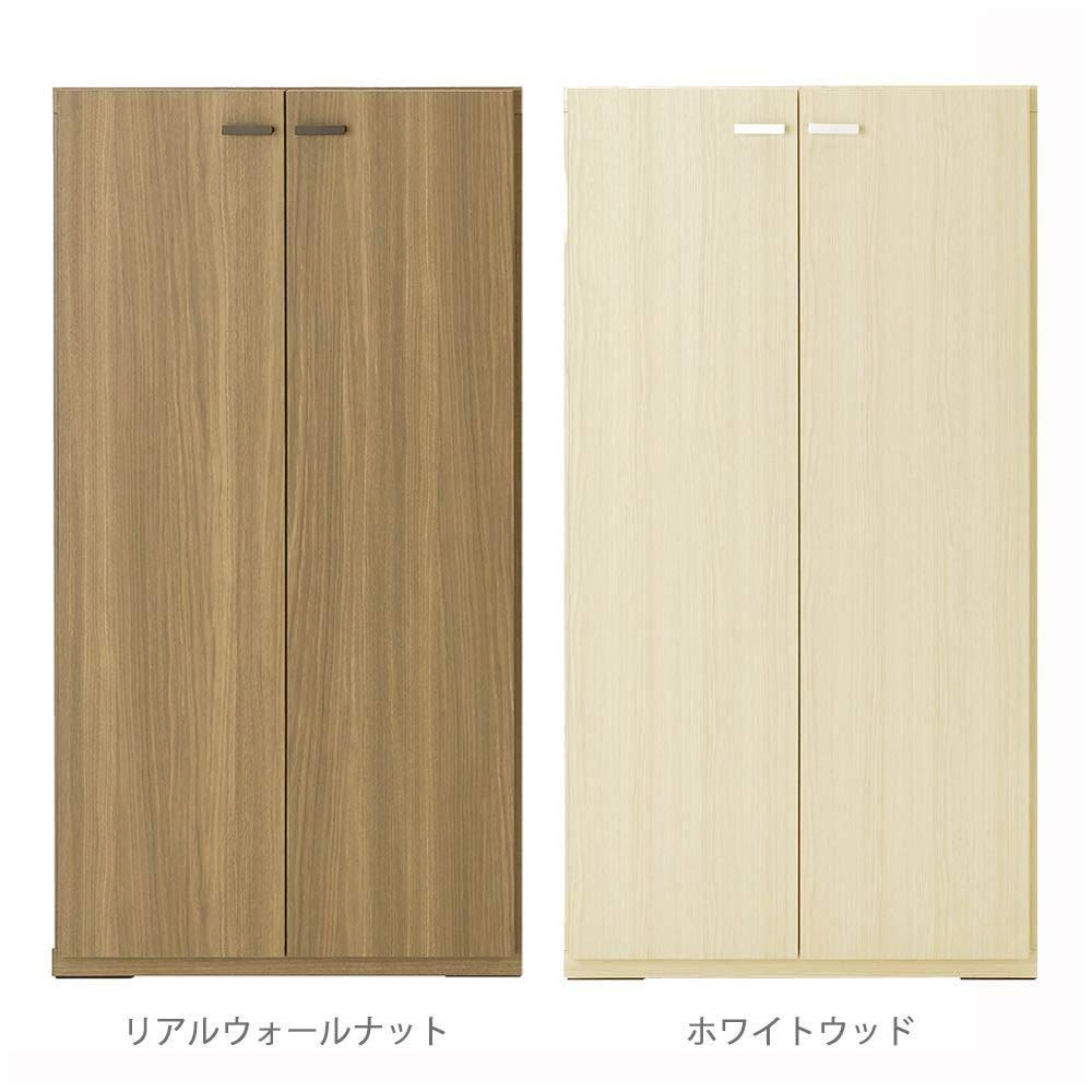 こちらの商品は【 リアルウォールナットKFD-60 】のみです。 日本製、シンプルなデザインの家具。 フナモコ 日本製 LIVING SHELF 棚 板戸 600×387×1138mm 〈簡易梱包 B07TMMPT3G