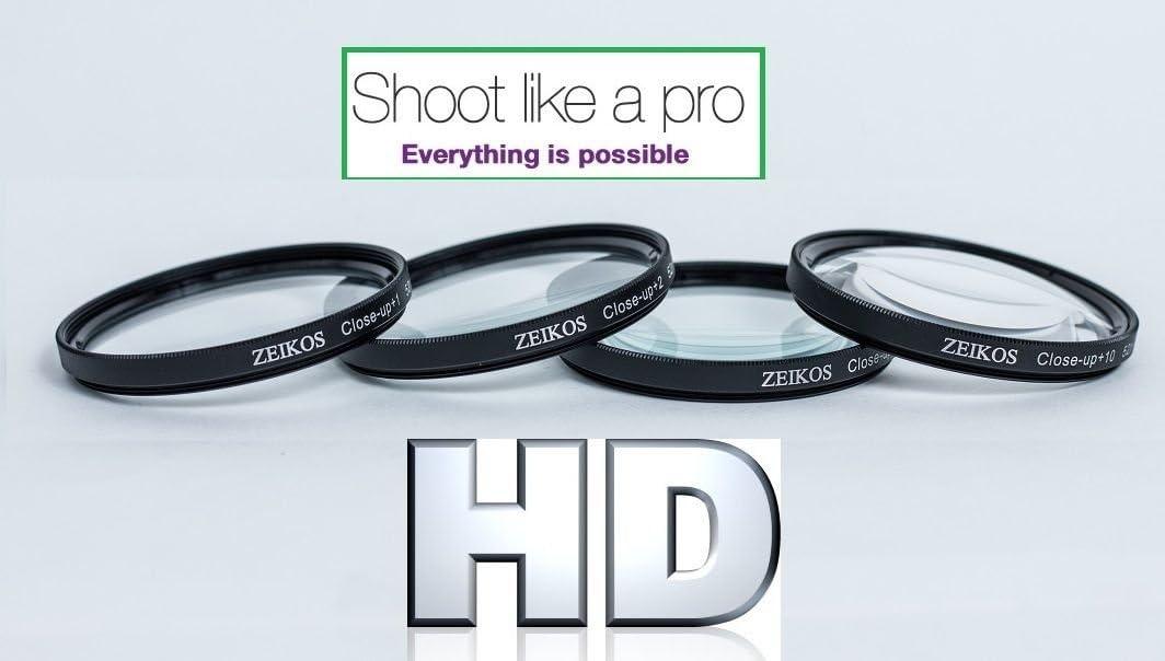 4 52mm Compatible Close-UP Macro Lens Set 1 2 10 for Canon EOS M EF-M 18-55mm STM KIT