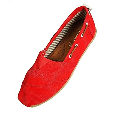 Ladies Canvas Slip-On Loafer - Farasion | Loafers & Slip-Ons