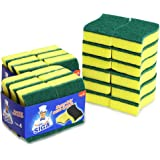 "MR.SIGA Heavy Duty Scrub Sponge, 24 Count, Size:11 x 7 x 3cm, 4.3"" x 2.8"" x 1.2"""