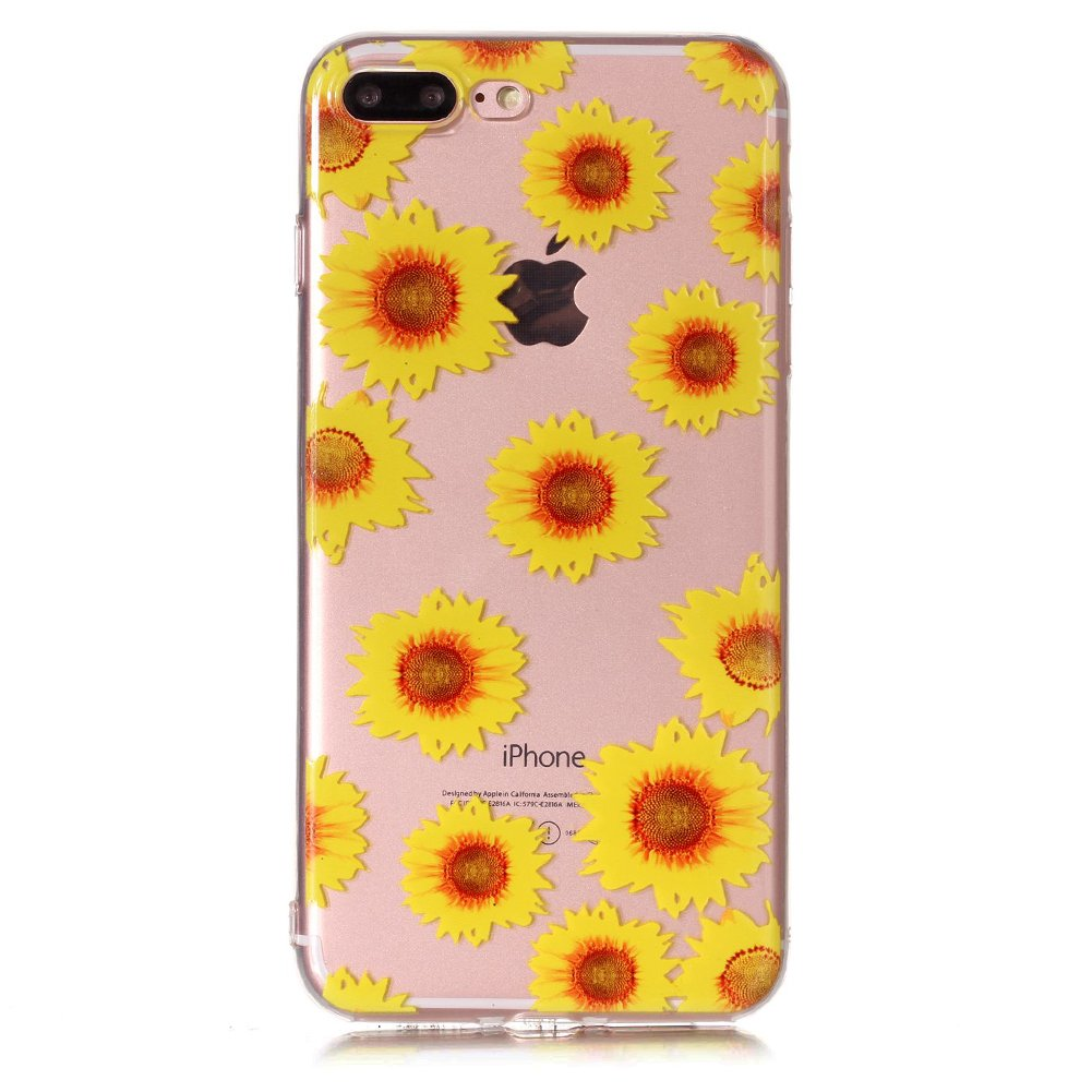 BtDuck Compatible with iPhone 8 Plus iPhone 7 Plus Purple Dandelion Dream Hold Dandelion Ball Butterfly Soft 3D TPU Gel Clear Cover the party Protection Shockproof Heavy Duty Robust Bumper