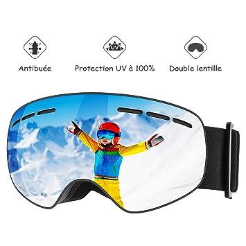 96cb38ba94 Mpow Lunettes de Ski, Masque de Ski pour Enfants et Adolescents, Masques  Snowboard Sports