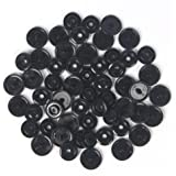 "Black Lead-Tested KAMsnaps KAM Snaps Size 20 (1/2"") Plastic Button Sewing Fastener CPSIA-Compliant for Cloth Diapers…"