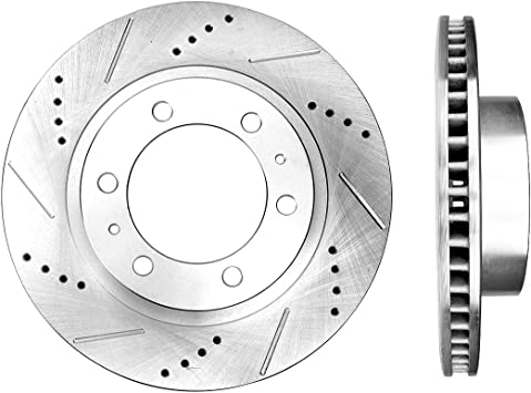 Front DRILLED Disc Brake Rotor for 2005 2006 2007 2008-2018 Toyota Tacoma /& FJ