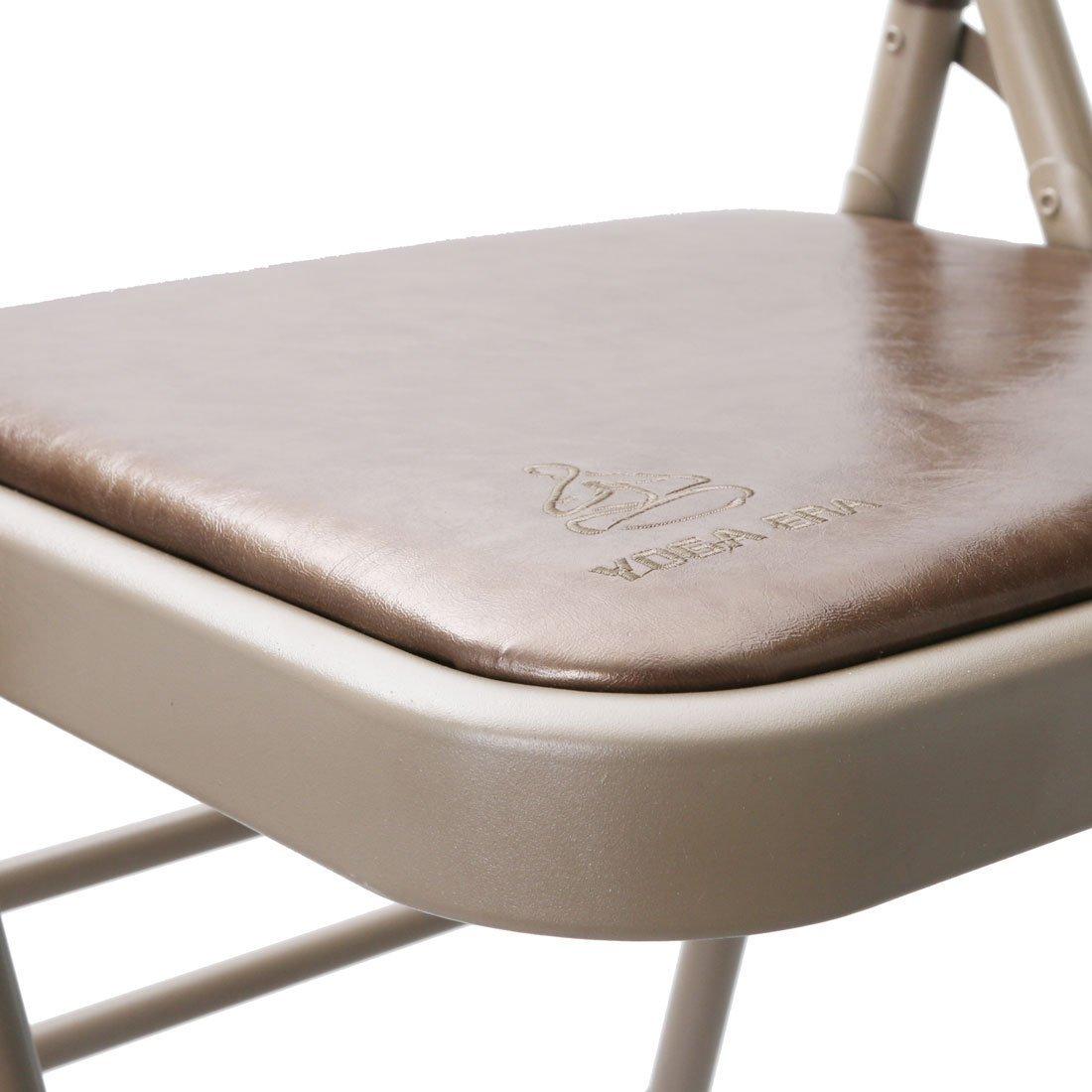 DealMux ferro doméstico escritório Exercício relaxante Academia Backless Folding Chair Yoga Prop