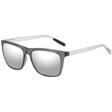 WHCREAT Rétro Lunettes de Soleil Polarisées Unisexe Rétro Mode Design Ultra  Léger Miroir pour Homme et 9d06de0b604d