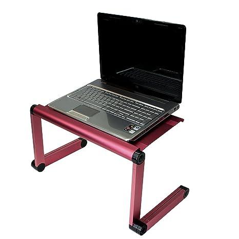 Ajustable con ventilación para ordenador portátil mesa para portátil para ordenador portátil bandeja de la cama