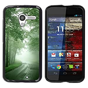 "For Motorola Moto X Motorola Moto X ( 1st Generation ) , S-type Naturaleza Hermosa Forrest Verde 7"" - Arte & diseño plástico duro Fundas Cover Cubre Hard Case Cover"