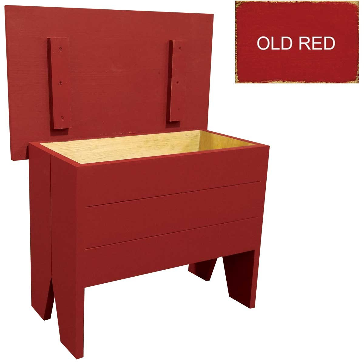 Sawdust City Storage Bench 2' long (Old Red)