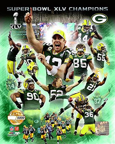 Green Bay Packers Aaron Rodgers And Tean Collage Limited Edition 8x10 Photo, Picture mf