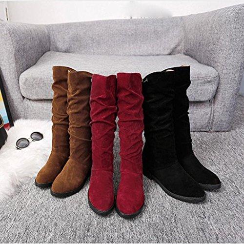 Dolci Somesun Stivali Degli Autunno Black Boots Women Di Pattini Dei Sistema Caricamenti Delle Del Flock Stylish Inverno Neve Flat Donne Shoes qqBYvF
