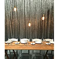 B-COOL sequin backdrop 4ftx8ft Silver sparkly photograph booth party and wedding decoration