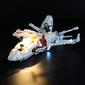 LIGHTAILING Light Set for (Marvel Spider-Man Stark Jet and The Drone Attack) Building Blocks Model - Led Light kit Compatible with Lego 76130(NOT Included The Model)