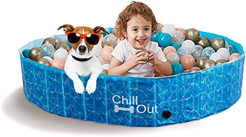 ALL-FOR-PAWS-Outdoor-Bathing-Dog-Pool-Portable-Pet-Bath-Tub-Blue