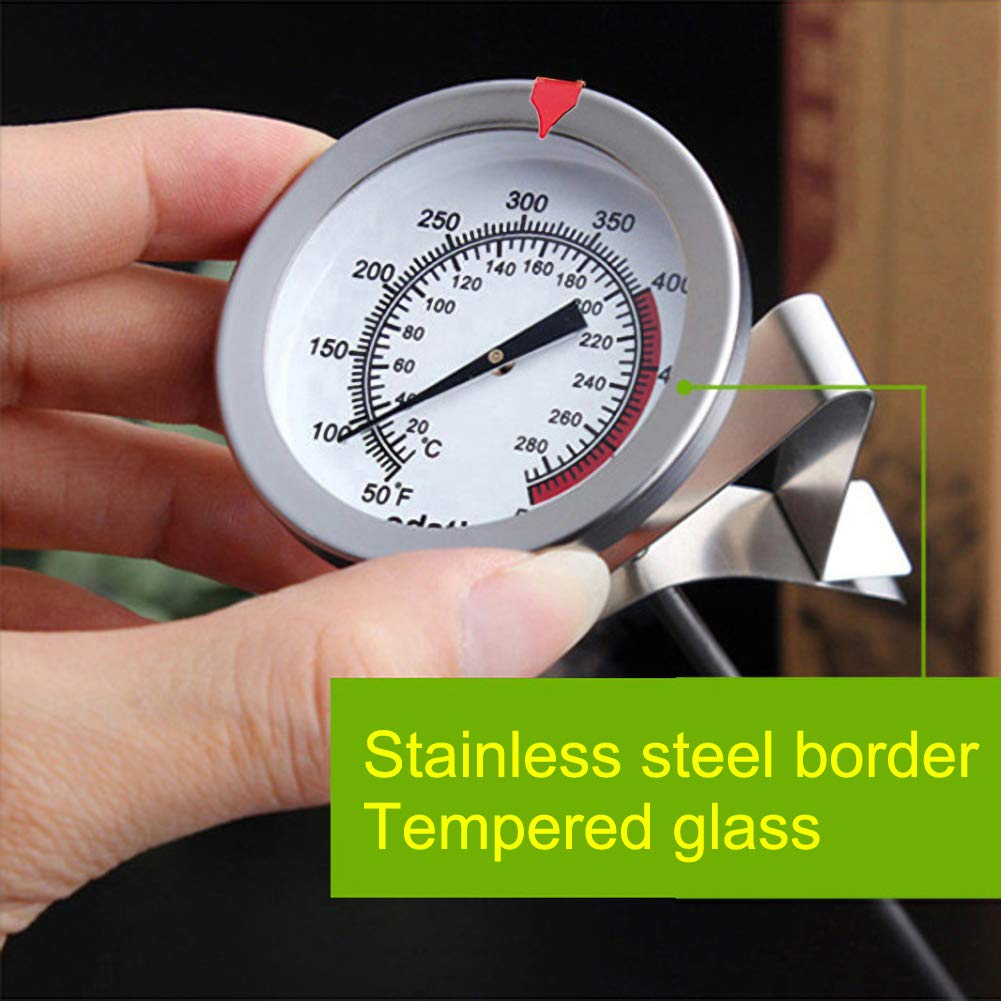 Grill 12 Mechanical Meat Thermometer Instant Read BBQ Stainless Steel Deep Fry Thermometer for Turkey Waterproof No Battery Required Long Stem