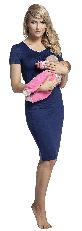 Happy Mama Para Mujer Camis/ón Premam/á Embarazo Lactancia Mangas Cortas 274p