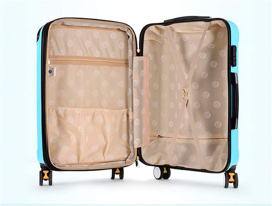 Simple Simple and Color : Metallic, Size : 20 HUIJUNWENTI Carry Suitcase Hard Case 20//22//24//26 Inches Black The Latest Style Rotating Suitcase