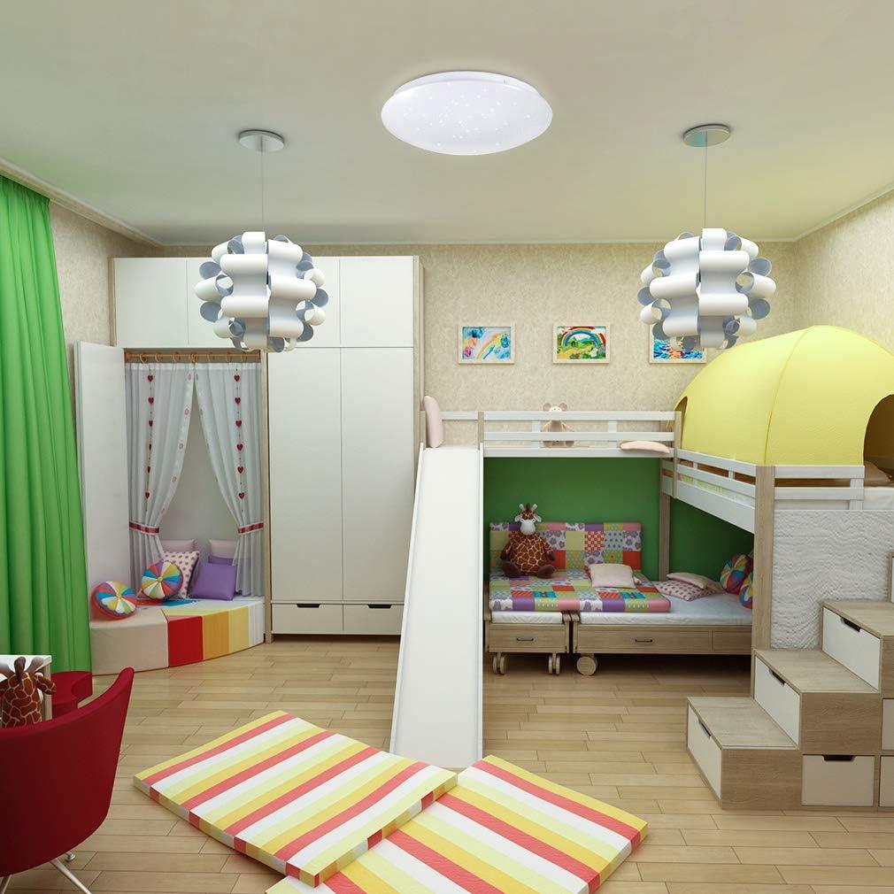 Rund /Ø285mm LED Deckenleuchte Dimmbar Sternenhimmel 18W Tonffi LED Deckenlampe Dimmbar mit Fernbedienung Einstellbar Farbtemperaturen und Helligkeit f/ür Wohnzimmer Schlafzimmer Kinderzimmer