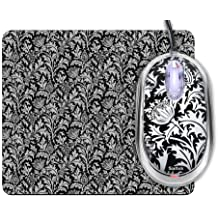 Saitek PM46tp Expression Notebook Mouse and Mouse Pad - Thistle Print (Black)