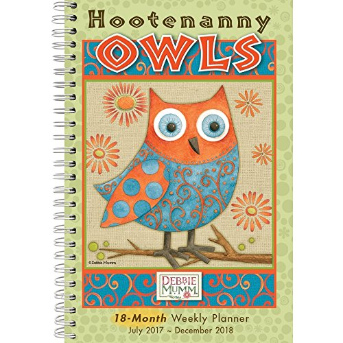 Debbie Mumm Collection - Hootenanny Owls by Debbie Mumm 2018 Softcover Engagement Planner Calendar