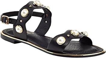 0cd8afad9f1 Extreme by Eddie Marc Women s Peta Pearl Accent Sandal