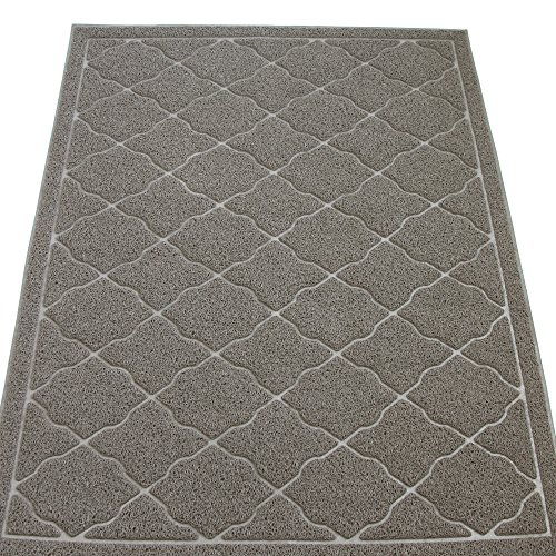 [KW Pets Non-Toxic Cat Litter Mat, Jumbo Size (47x35-Inch), Light Gray] (Sticky Proud Family Costume)