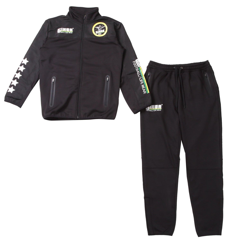 GiNGA(ジンガ) ジンガウォームアップトレーニングセット ジャージ ピステ B079ST4NPX L|ブラック ブラック L