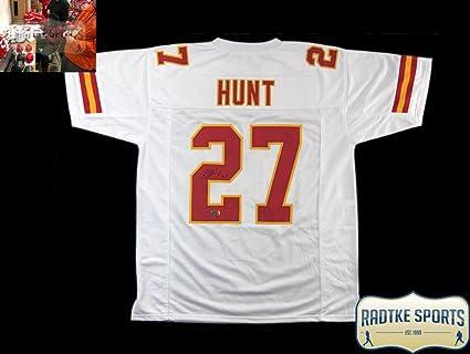 sports shoes 72554 bf79d Amazon.com: Kareem Hunt Autographed/Signed Kansas City ...