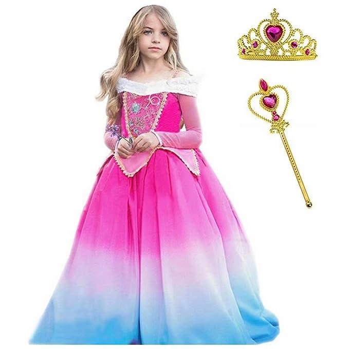 Amazon.com: Szytypyl - Vestido largo de princesa Aurora para ...