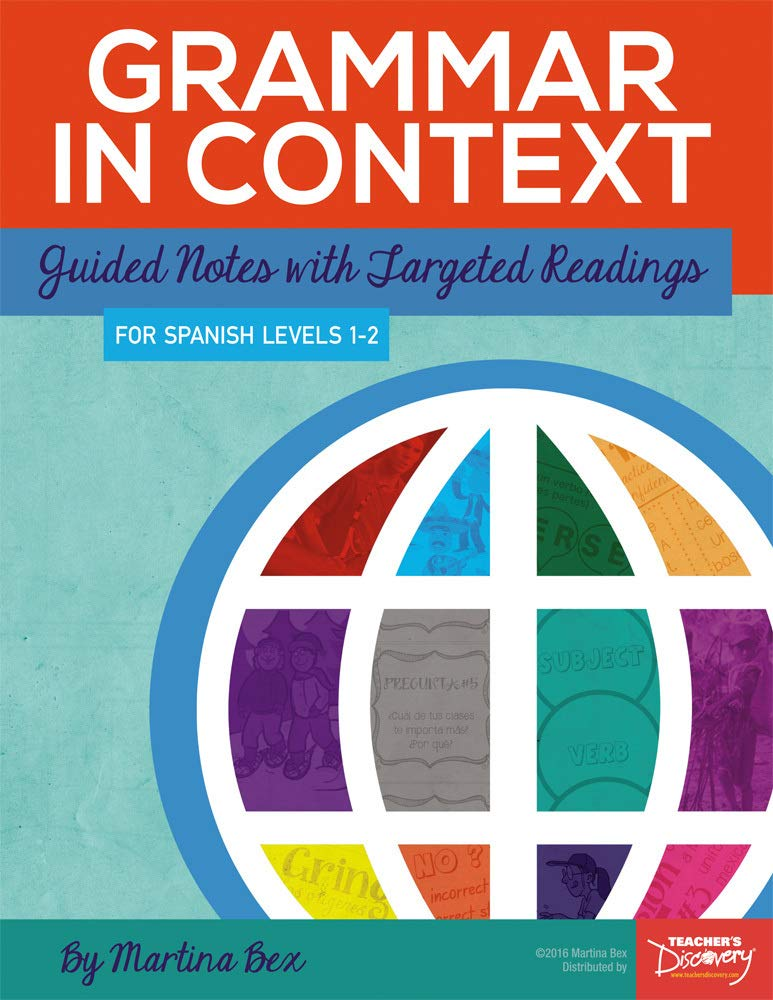 Grammar in Context Spanish Book by Teacher's Discovery