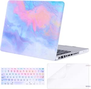 MOSISO MacBook Pro 13 inch Case A1278 Release 2012-2008, Plastic Pattern Hard Case & Keyboard Cover & Screen Protector Compatible with Old Version MacBook Pro 13 inch with CD-ROM, Colorful Clouds