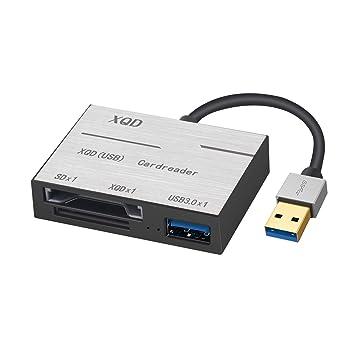 XQD Lector de Tarjetas, USB 3.0 SD XQD, Lector de Tarjetas de ...