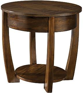 Hammary Concierge Round Medium Brown End Table